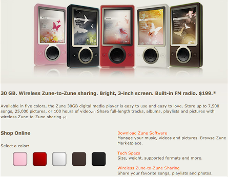 Zune.net colour swatch controls