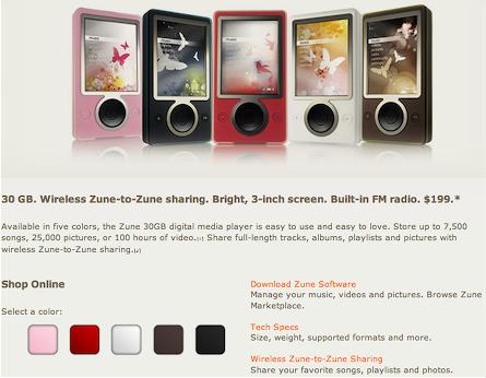 Zune.net colour swatch controls