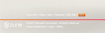 Poor text contrast on zune.net