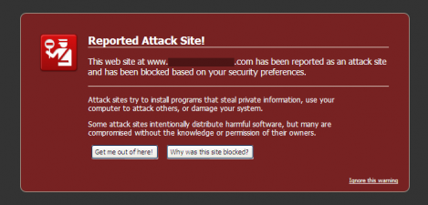 irefox 3.5.1 Malware Warning Interstitial