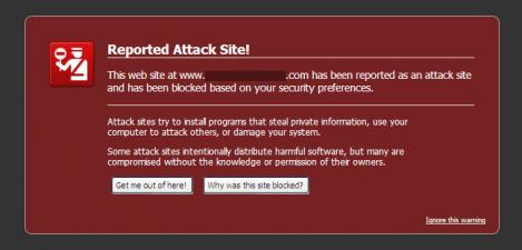 irefox 3.5.1 Malware Warning Interstitial