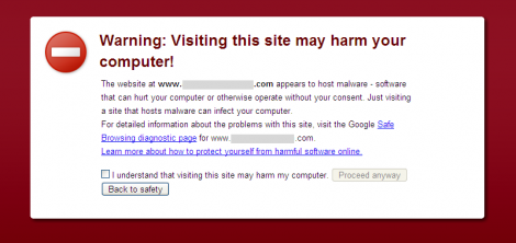 Chrome 2.0.1 Malware Warning Interstitial