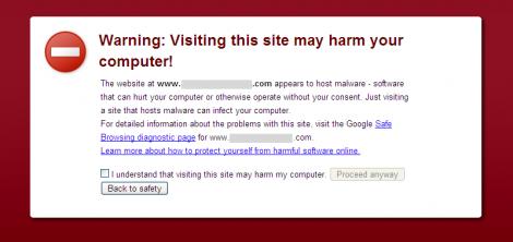 Chrome 2.0.1 Malware Warning Interstitial